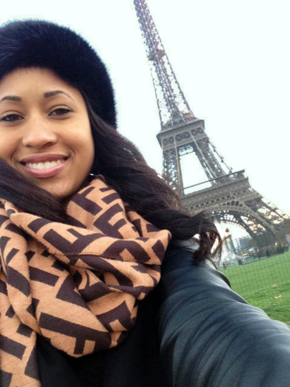 Eiffel Tower ODU Student